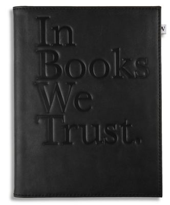 Black 'In Books We Trust' Cover for Kindle, Kindle Paperwhite & Kindle Touch (General merchandise)