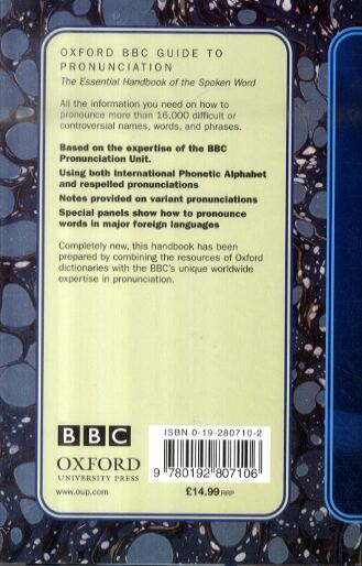 Oxford BBC Guide to Pronunciation: The Essential Handbook of the Spoken Word (Hardback)