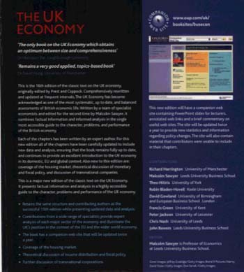 The UK Economy: A Manual of Applied Economics (Paperback)