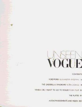 "Unseen ""Vogue"": The Secret History of Fashion Photography (Paperback)"
