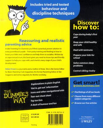 Parenting For Dummies (Paperback)