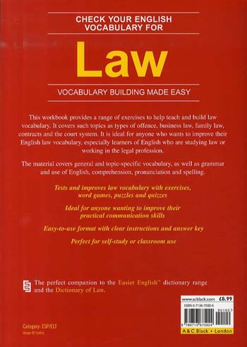 Check Your English Vocabulary for Law: All You Need to Improve Your Vocabulary (Paperback)