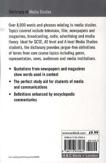 Dictionary of Media Studies (Paperback)