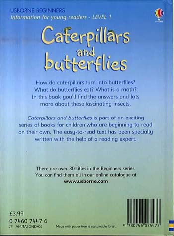 Caterpillars and Butterflies - Beginners (Hardback)