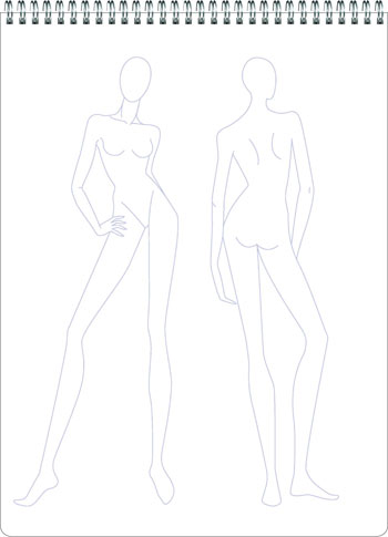 Fashion Sketchpad: 400 Figure Templates for Designing Clothes and Building Your Portfolio (Other book format)