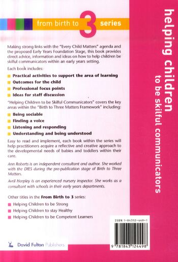 Helping Children to be Skilful Communicators (Paperback)