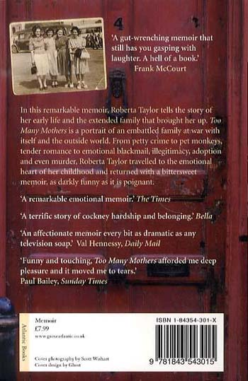 Too Many Mothers: A Memoir of an East End Childhood (Paperback)