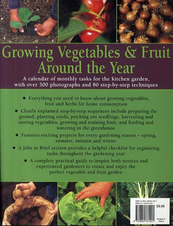 Growing Vegetables and Fruit Around the Year (Paperback)