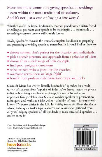 Wedding Speeches for Women: The Girls' Own Guide to Giving a Speech They'll Remember (Paperback)