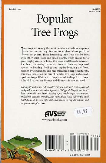 Popular Tree Frogs - The Herpetocultural Library (Paperback)